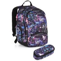 Studentský batoh a penál Topgal - HIT 889 I - Violet