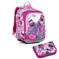 Svítící školní batoh Topgal ENDY17004 + penál PENN17004_G