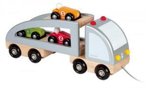 Kamion a sportovní autíčka