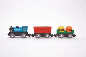 Mašinka elektrická s vagónky