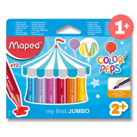 Voskovky Maped Wax JUMBO, 12 barev