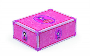 Skládací úložná krabička - růžová