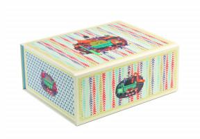 Skládací úložná krabička - stavební stroje