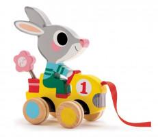 Tahací králík s kytkou