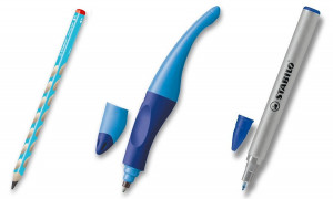 Sada psacích potřeb STABILO pro praváky - modrá