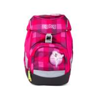 Školní batoh Ergobag prime - Purpurový károvaný