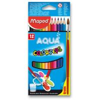 Akvarelové pastelky Maped - 12 barev + štětec
