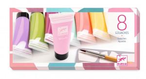 Temperové barvy v tubě - pro holky - 8 ks