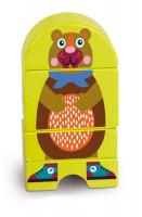 Dřevěné magnetické puzzle - Medvěd