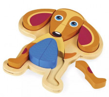Zvířátkové puzzle na desce - pes - 9ks