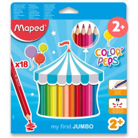 Pastelky Maped Color´Peps Jumbo - 18 barev