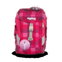 Dětský batoh Ergobag mini - purpurový károvaný