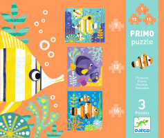 První puzzle - Rybky 9, 12, 16 ks