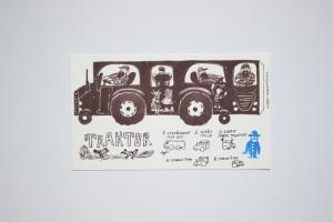 Traktor - vystřihovánka a skládačka