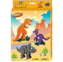 Hama midi Dinosauři - dárkový box - 2000 ks