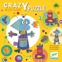 Kreativní puzzle - prapodivná zvířata - 20 ks