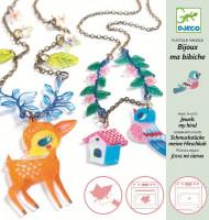 Smršťovací obrázky - výroba šperků - Jelínek a ptáčci