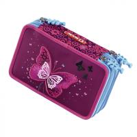 Vybavený blikací penál Step by Step Třpytivý motýl