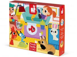 Puzzle hmatové - domácí zvířátka - 20 ks