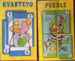Kvarteto + puzzle - 2 v 1