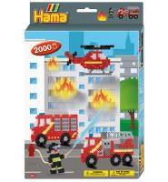 Hama Midi -  Dárková sada - hasiči  - 2000 ks