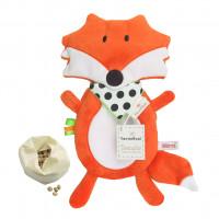 Mom's Care – nahřívací polštářek s třešňovými peckami – liška oranžová