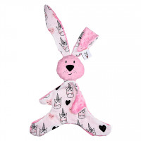 Mom's Care - růžový králíček - muchláček do postýlky