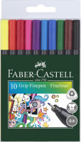 Linery Faber-Castell GRIP, 0.4mm - 10 barev