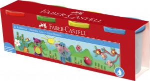 Modelovací hmota Faber-Castell v kelímkách 4x110g