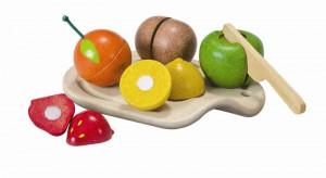 Krájení na prkénku - sada s ovocem