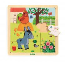 Dřevěné puzzle - Farma - 12 ks