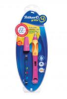 Bombičkové pero Griffix 4 pro leváky - růžové