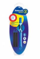 Inkoustový roller Griffix 3 pro praváky - modrý