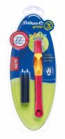 Inkoustový roller Griffix 3 pro praváky - červený