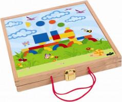 Magnetický kreativní kufřík s tvary