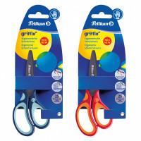Nůžky pro praváky Griffix - mix barev, na blistru