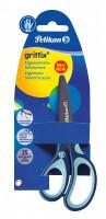 Dětské ergonomické nůžky Griffix s kulatou špičkou - pro leváky, modré, na blistru