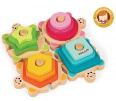 Zábavné želvy - vkládačka a puzzle