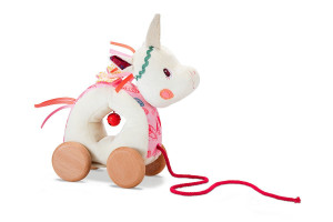 Lilliputiens - jednorožec Louise - tahací hračka