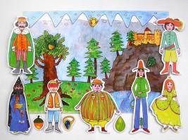 Marionetino - Loutková  pohádka bez tyček -  Dlouhý, Široký a Bystrozraký