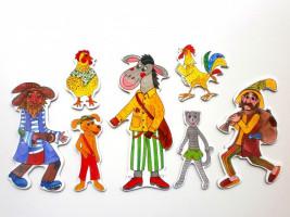 Marionetino - Loutkový balíček bez tyček - Zvířátka a loupežníci