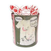 Stampo textil - Motýlí zahrada - 28 ks