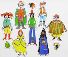 Marionetino - Loutkový balíček bez tyček -  Dlouhý, Široký a Bystrozraký