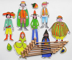 Marionetino - Loutkový balíček s tyčkami - Dlouhý, Široký a Bystrozraký