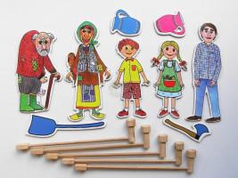Marionetino - Loutkový balíček s tyčkami - Perníková chaloupka