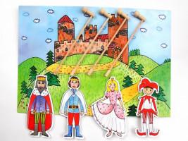 Marionetino - Loutková pohádka s tyčkami - Královská sada I