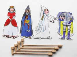 Marionetino - Loutkový balíček s tyčkami - Královská sada II