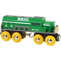 Brio - Dopravní lokomotiva zelená