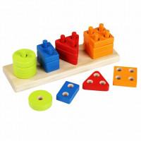 CUBIKA - Třídíme tvary - dřevěná skládačka - 17 dílů
