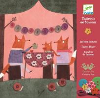 Kreativní sada - Liščí párty - přišívání knoflíků